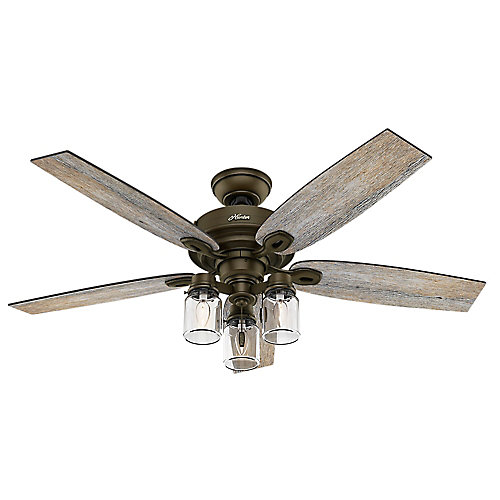 Crown Canyon 52-inch Regal Bronze Ceiling fan with light kit