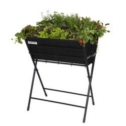 VegTrug Classic Poppy Foldable Raised Garden Planter in Black