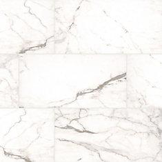 White Vena 12 in. x 24 in. Glazed Ceramic Floor and Wall Tile