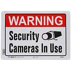 10 X 14 Warning Security Camera In Use