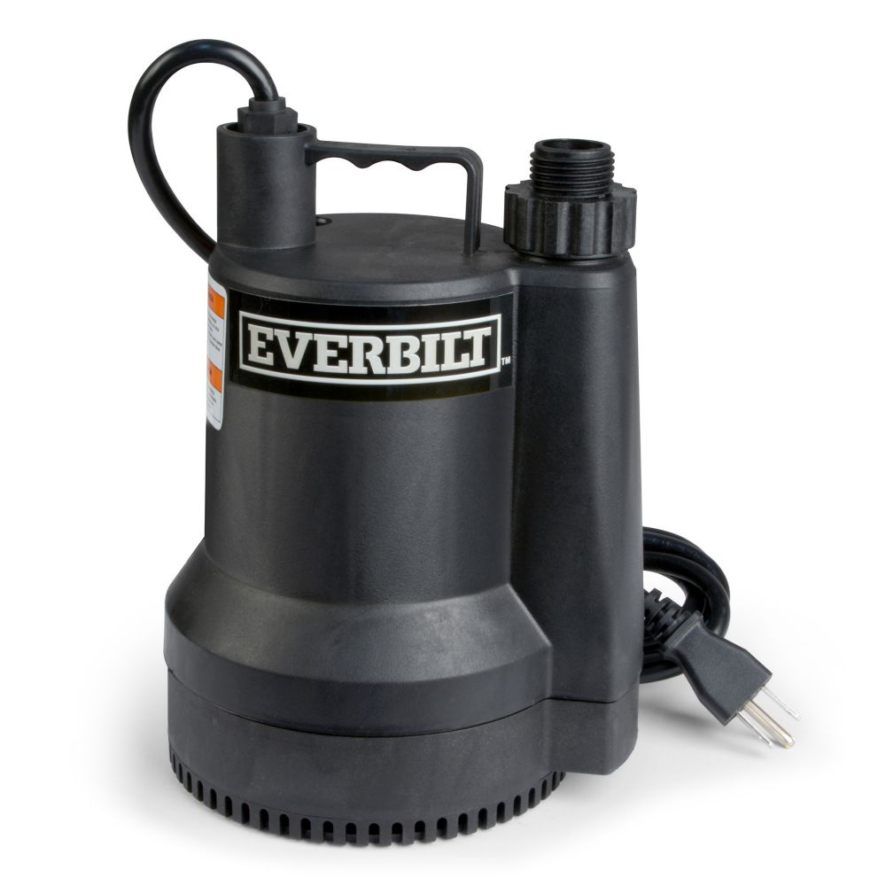 Everbilt 1 4 Hp Submersible Utility Pump The Home Depot Canada