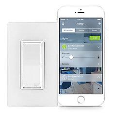 Interrupteur à technologie HomeKit en blanc (Plaque vendue séparément)