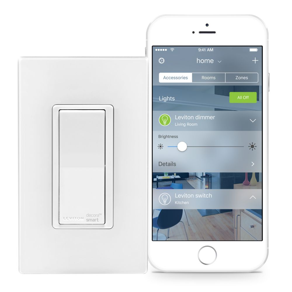 Decora Smart Switch with HomeKit Technology in White (Wallplate Sold Separately)