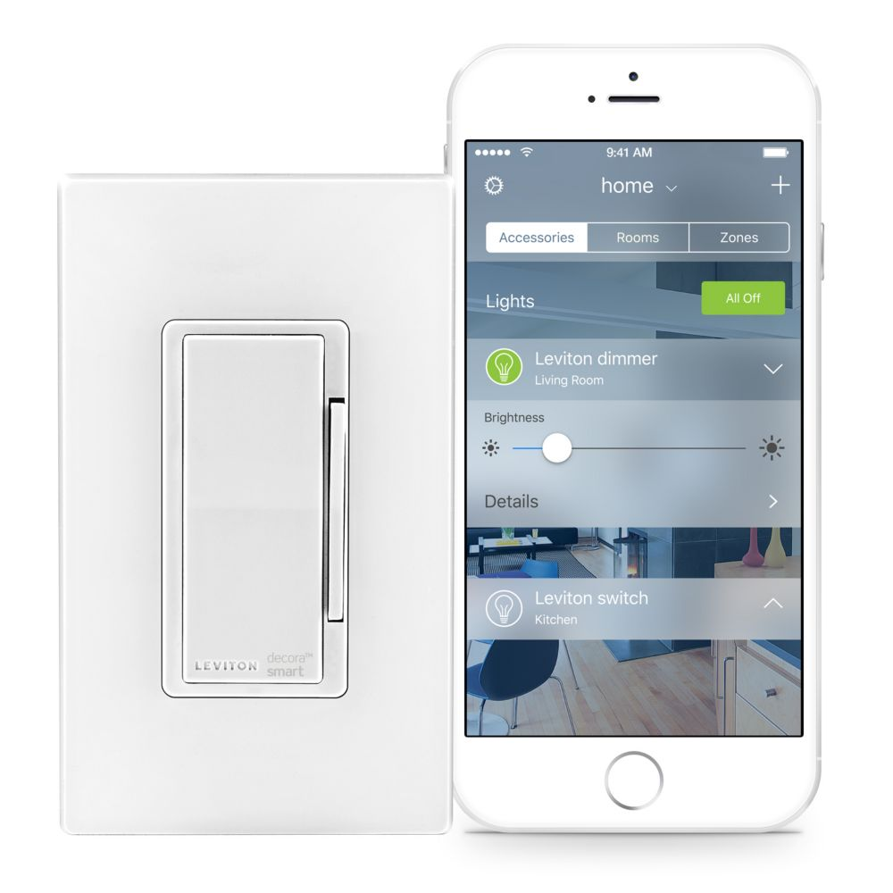 Leviton - Decora Dimmer with HomeKit Technology in White (Wallplate Sold Separately)
