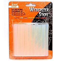 Bâtons pour toile d'araignée, transparent