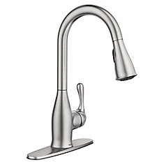 Kaden Single-Handle Pull-Down Sprayer Kitchen Faucet with Reflex in Spot Resist Stainless