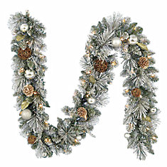 9 ft. Meadow Frost Garland