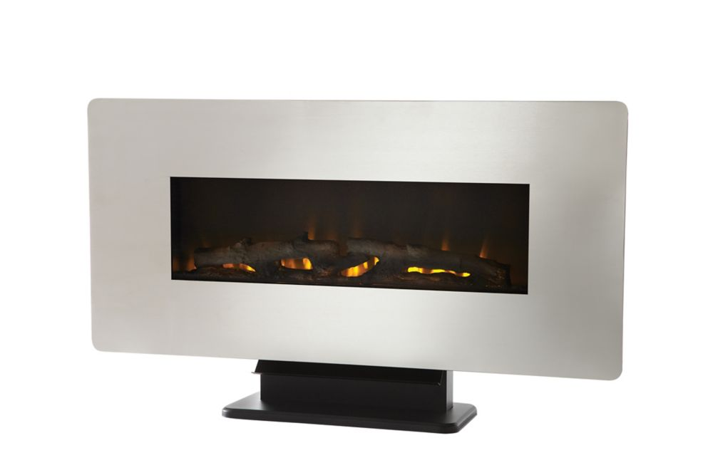 Home Decorators Collection Vallens 36 Inch Zinc Front Wall Mount Electric Fireplace