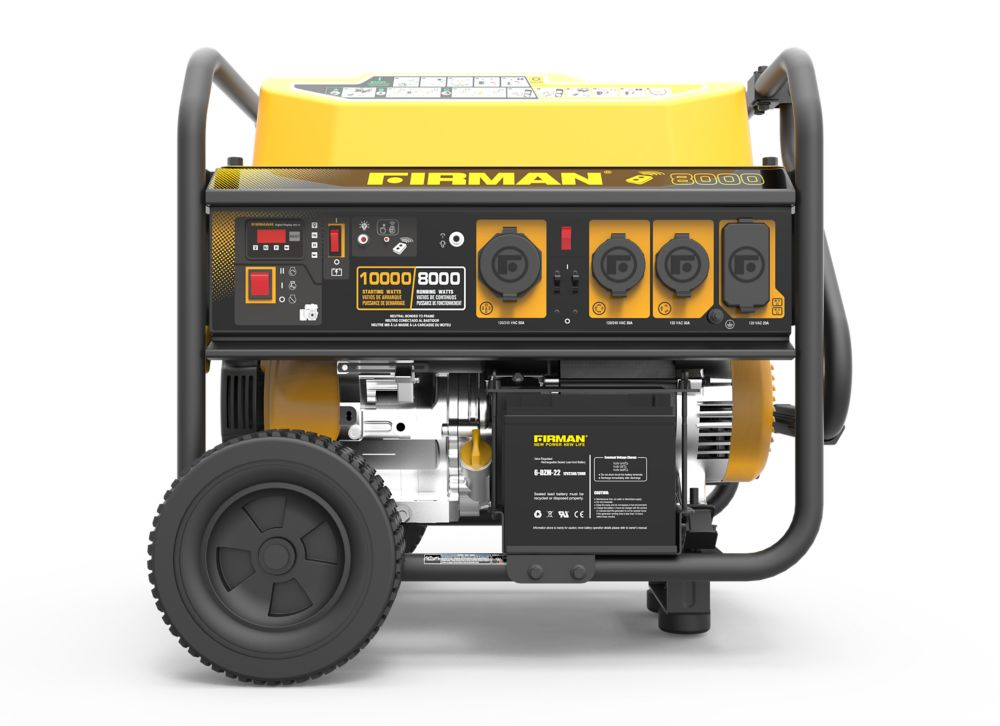 FIRMAN 10000/8000 Watt 120/240V Remote Start Gas Portable Generator cETL Certified w/ Wheel Kit and Cover