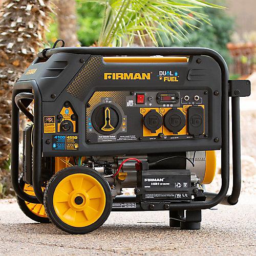 4550/3650 watts Génératrice portative essence/propane à démarrage électrique certifiée CARB et cETL