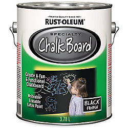 Rust-Oleum Specialty Chalk Board Paint In Black, 3.78 L