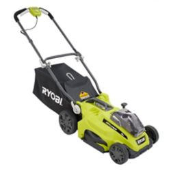 RYOBI ONE+ 18V Lithium-Ion 16-inch Cordless Walk Behind Push Lawn Mower with (2) 4.0Ah Batteries