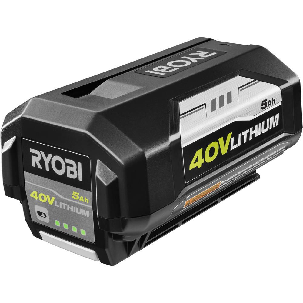 Ryobi 40V Lithium-Ion 5 Ah High Capacity Battery OP4050A