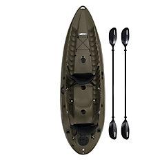 Lifetime Sport Fisher 120-inch SOT Kayak Olive Drab Green