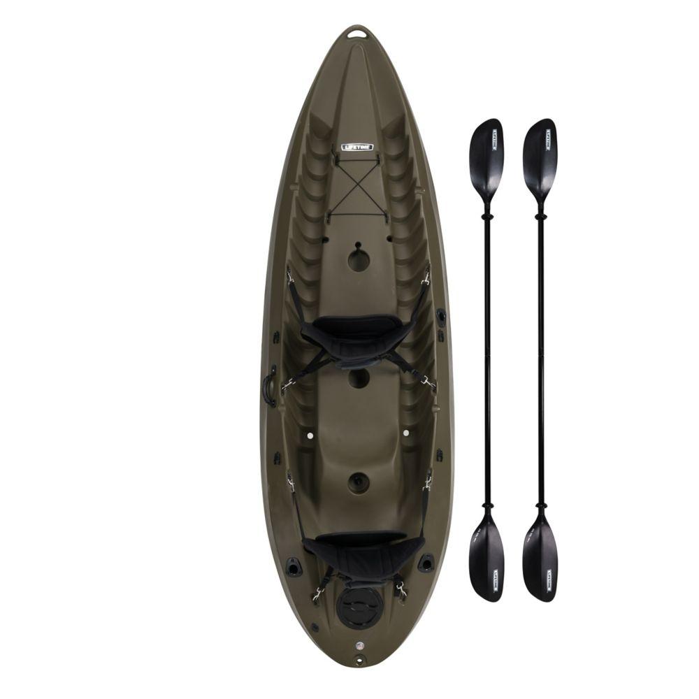 Lifetime Lifetime Sport Fisher 120-inch SOT Kayak Olive Drab Green