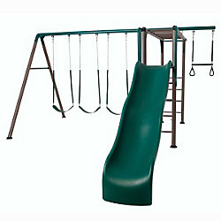 Lifetime Monkey Bar Adventure Swing Set in Earthtone