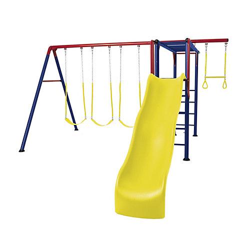 Balançoires Cage à grimper aventure (couleurs primaires)