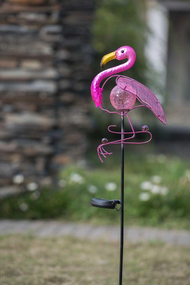 Flamingo Garden Stake W/Solar