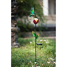 Poteau de jardin de jardin de fleur avec la LED solaire, 35