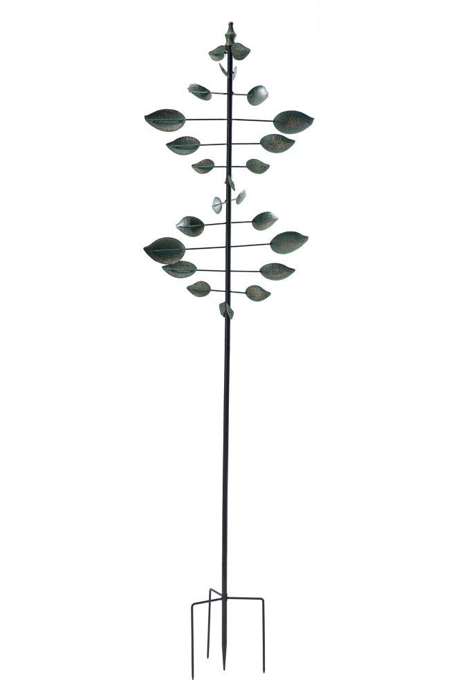 Sunjoy 84-inch Verdigris Leaf Kinetic Spinner
