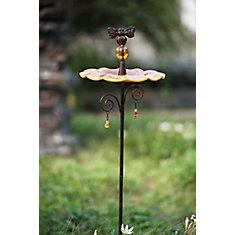 Alimentateur d'oiseaux de parc en verre