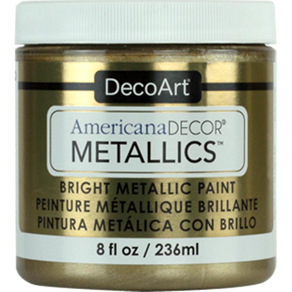 Decoart Metallic Paint 8oz Champagne Gold The Home