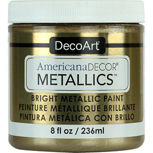 DecoArt Metallic Paint 8oz -Champagne Gold