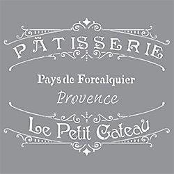 DecoArt Stencil 12 inch x 12 inch French Bakery