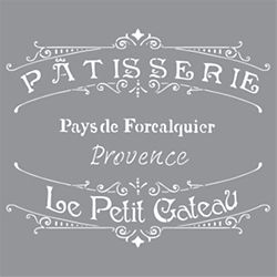 DecoArt Pouchoir DecoArt de 12po x 12po Boulangerie français