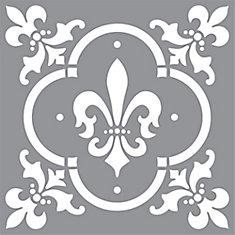 Stencil 12 Inch X Fleur De Lis Tile