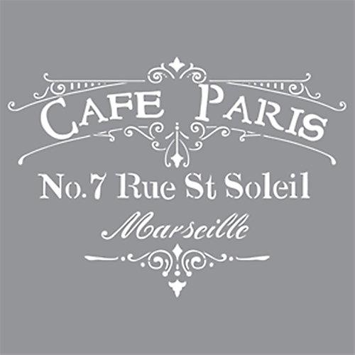 Stencil 12 inch x 12 inch Cafe Paris
