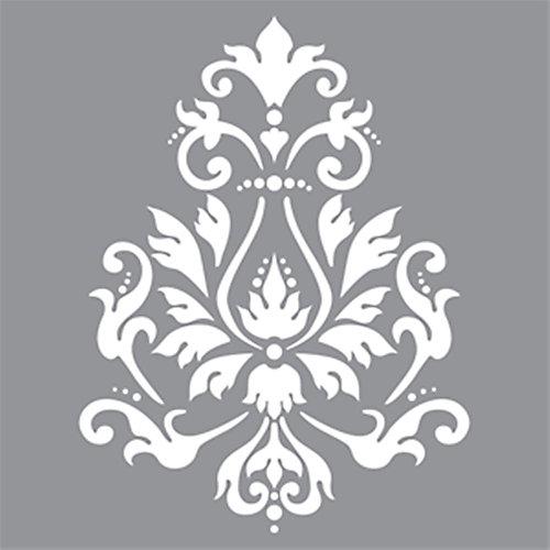 Stencil 12 inch x 12 inch Brocade Motif