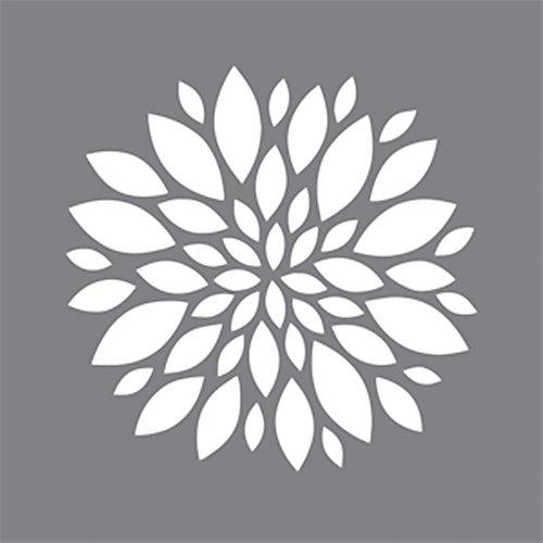 Stencil 6 inch x 6 inch Zinnia