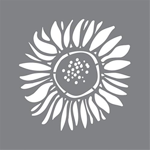 Stencil 6 inch x 6 inch Sunflower