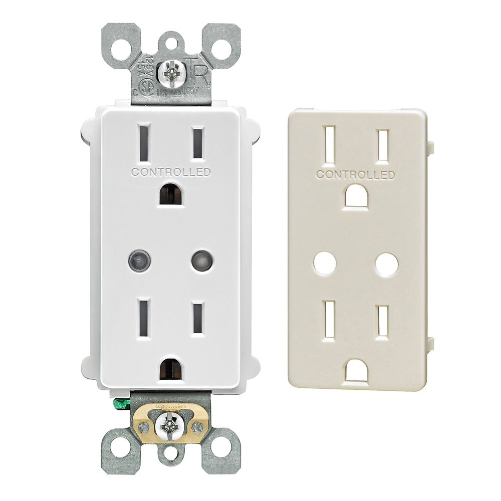 Decora Z-Wave Enabled 15 Amp Scene Capable Receptacle