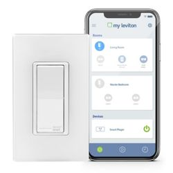Leviton Switch with Wi-Fi Technology in White (Wallplate Sold Separately)