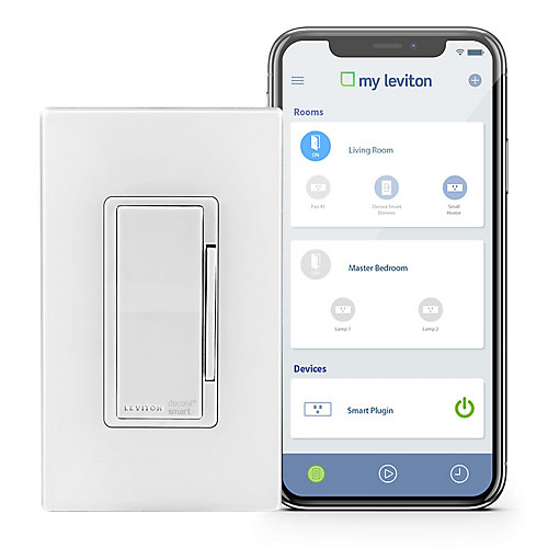 Dimmer with Wi-Fi Technology in White (Wallplate Sold Separately)
