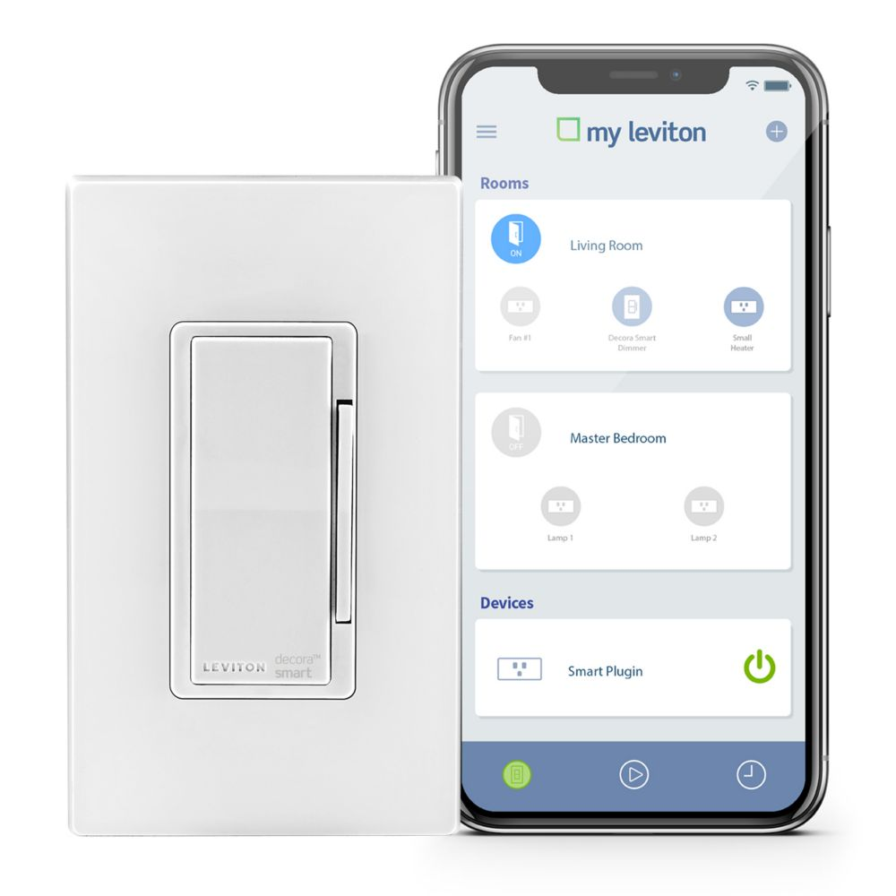Leviton - Decora 600W WiFi Enabled Dimmer in White