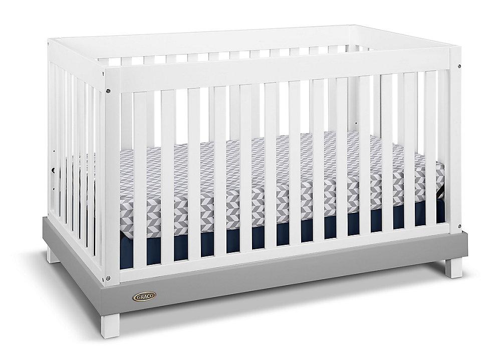 Maddox Convert Crib-White/Grey