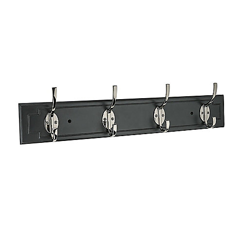 Black Rail 27 Inch with 4 Chrome Hooks