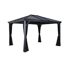 Ventura 10 ft. x 12 ft. Sun Shelter in Charcoal