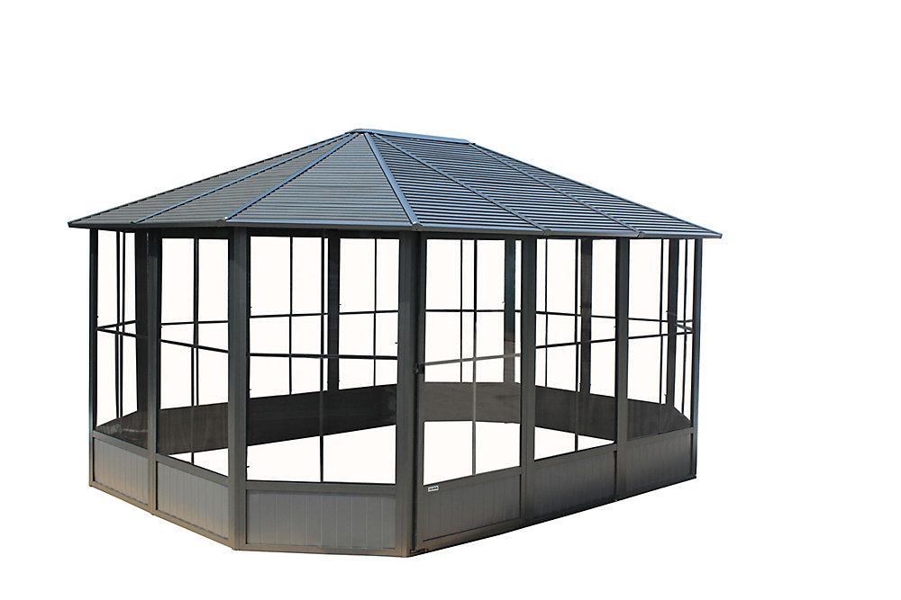 Korado 12 ft. X 18 ft. Octagonal Solarium in Charcoal