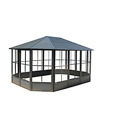 Korado 12 ft. X 18 ft. Octagonal Solarium in Charcoal