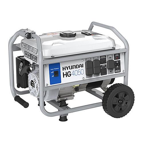 Générateur portable de 4,050-watts fonctionnant à l'essence avec ensemble de roues