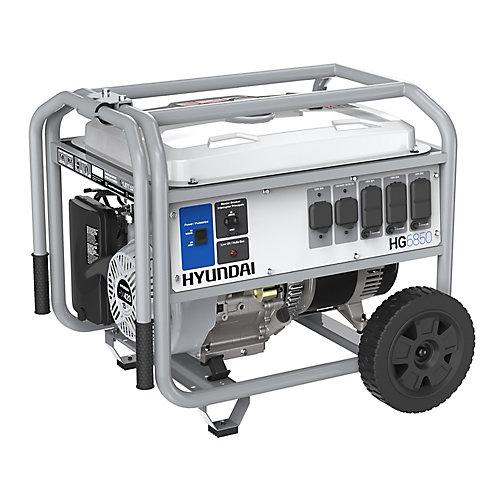 Générateur portable de 6,850-watts fonctionnant à l'essence avec ensemble de roues