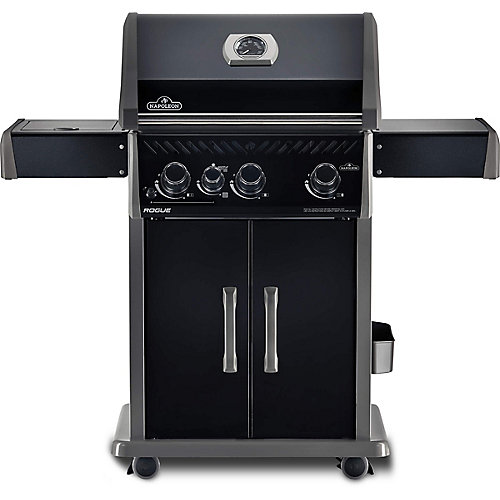 Rogue 425 Gas BBQ with Infrared Side-Burner in Black