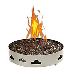 Patioflame Natural Gas Fire Pit with Glass Ember Bed