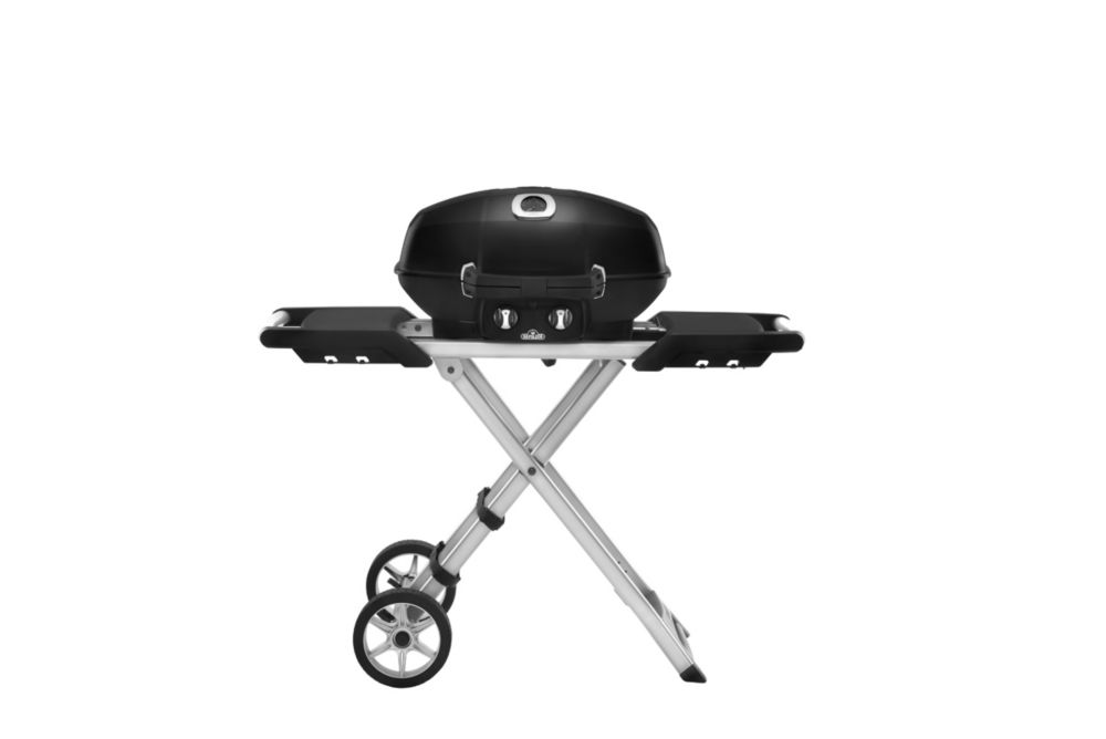 Napoleon PRO TravelQ Portable BBQ with Scissor Cart in Black