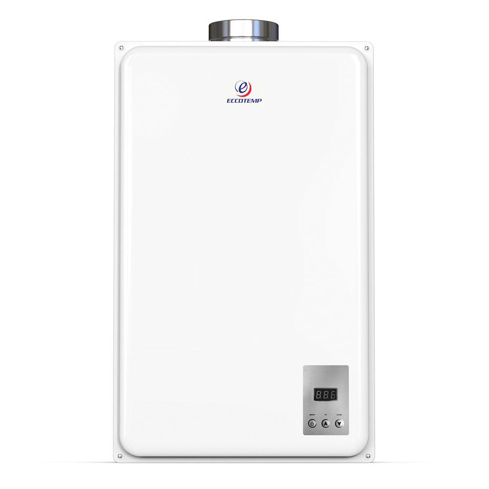 Eccotemp 45HI-LP 26 LPM 140,000 BTU Liquid Propane Gas Indoor Tankless Water Heater