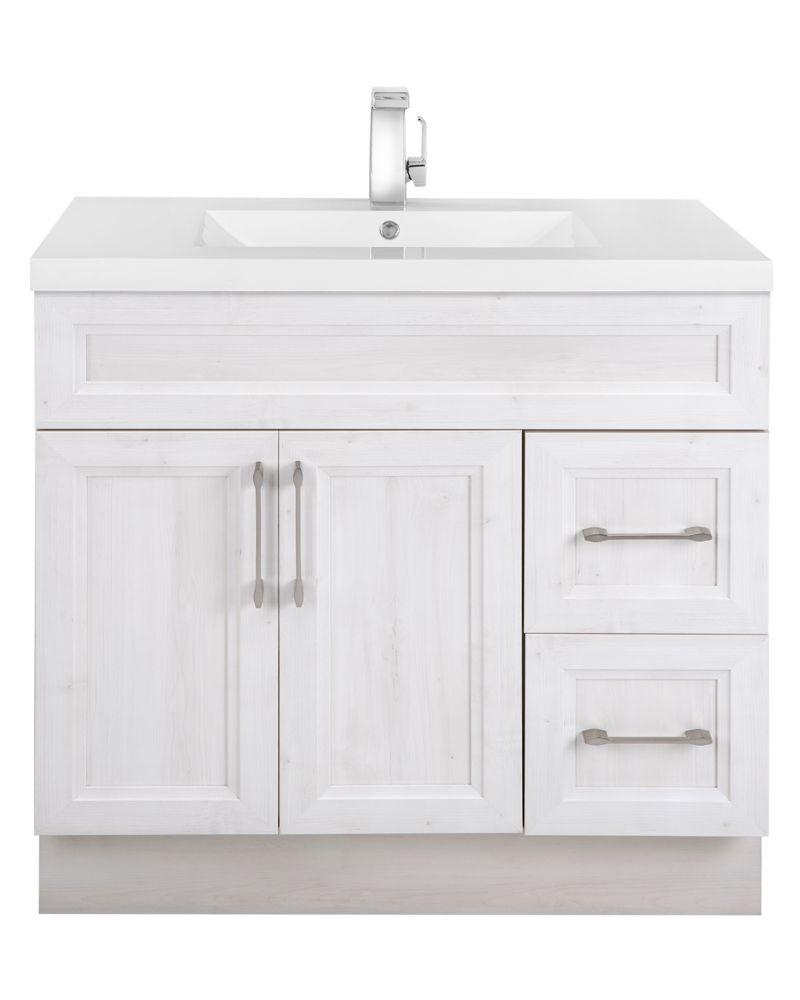 cutler kitchen bath fogo harbour 36 inch w 2 drawer 2 door freestanding vanity in off white. Black Bedroom Furniture Sets. Home Design Ideas